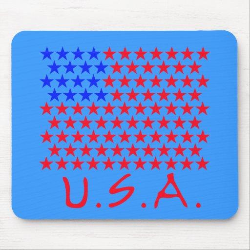 Bandera americana de los productos de las estrella alfombrillas de raton