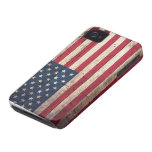 Bandera americana de madera vieja iPhone 4 Case-Mate carcasa