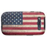 Bandera americana de madera vieja samsung galaxy s3 cobertura