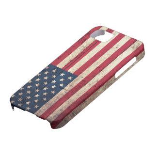 Bandera americana de madera vieja iPhone 5 Case-Mate coberturas