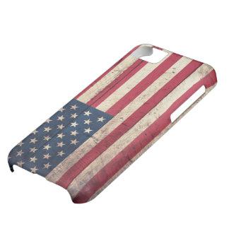 Bandera americana de madera vieja