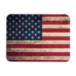 Bandera americana de madera vieja imanes de vinilo
