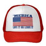 'Bandera americana de MERICA - ámela o déjele el g Gorras De Camionero