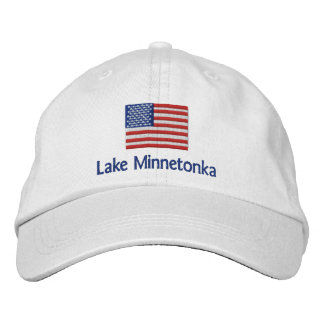 Bandera americana de Minnetonka del lago - casquil Gorra Bordada