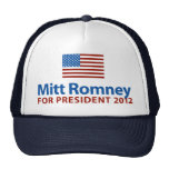 Bandera americana de Mitt Romney Gorro