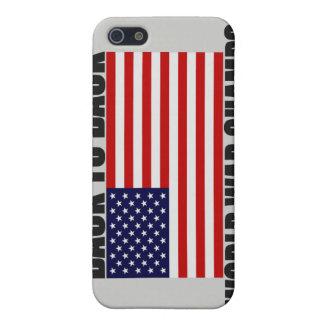 Bandera americana de nuevo a campeones traseros de iPhone 5 fundas