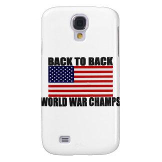 Bandera americana de nuevo a campeones traseros de funda para galaxy s4