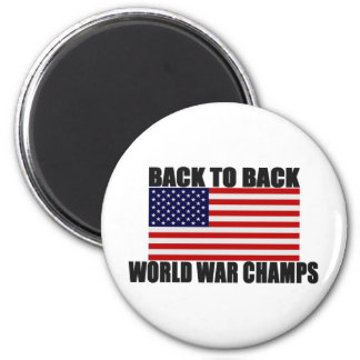 Bandera americana de nuevo a campeones traseros de imán para frigorífico