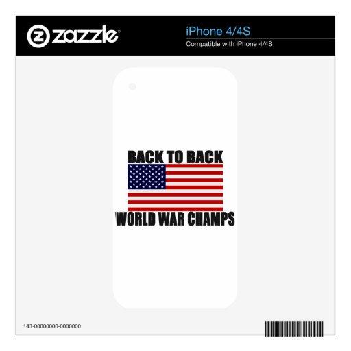 Bandera americana de nuevo a campeones traseros de skins para eliPhone 4