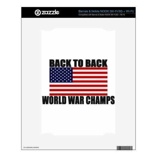Bandera americana de nuevo a campeones traseros de calcomanía para NOOK