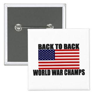Bandera americana de nuevo a campeones traseros de pin
