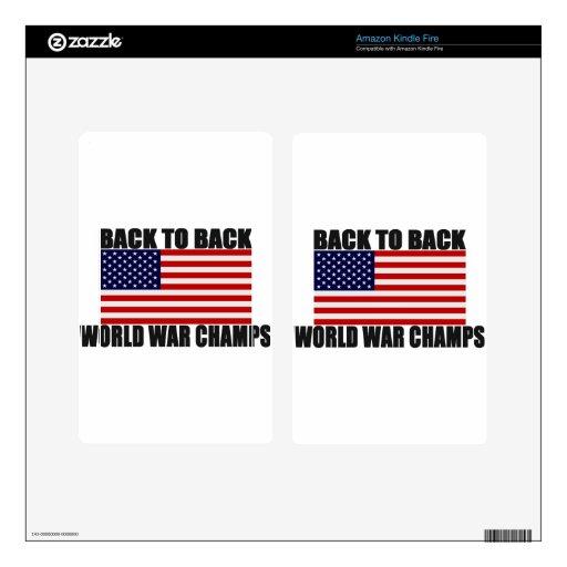 Bandera americana de nuevo a campeones traseros de kindle fire skins