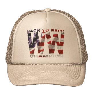 Bandera americana de nuevo al gorra trasero del ca