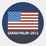 Bandera americana de Palin Etiqueta
