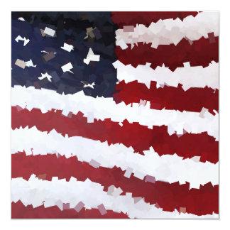 """Bandera americana de papel de Mache Invitación 5.25"""" X 5.25"""""""