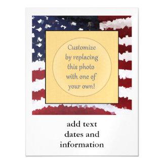 Bandera americana de papel de Mache Invitaciones Magnéticas