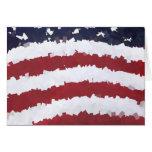 Bandera americana de papel de Mache Tarjeta