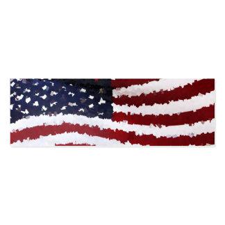 Bandera americana de papel de Mache Tarjetas De Visita Mini