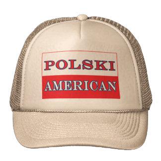 Bandera americana de Polski Gorros Bordados