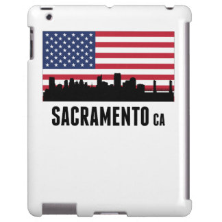 Bandera americana de Sacramento CA Funda Para iPad