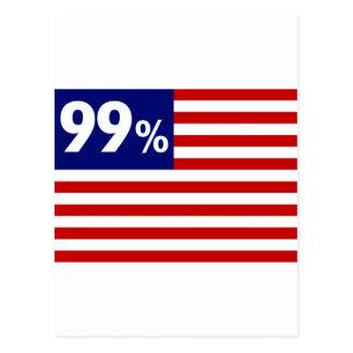 Bandera americana del 99% - ocupe Wall Street Tarjeta Postal