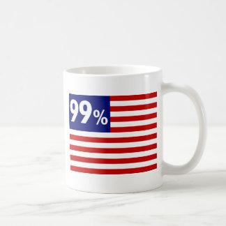 Bandera americana del 99% - ocupe Wall Street Taza De Café