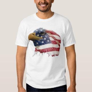 Bandera americana del águila calva poleras