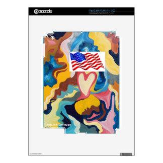 Bandera americana del amor calcomanías para el iPad 2