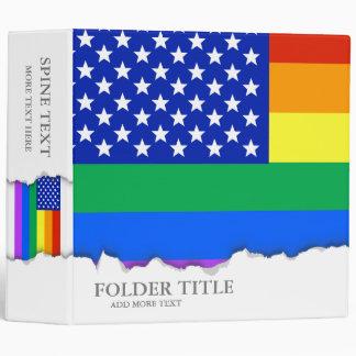 """Bandera americana del arco iris de LGBT Carpeta 2"""""""