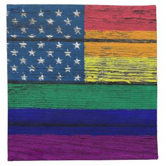 Bandera americana del arco iris del orgullo gay co servilletas
