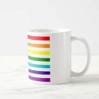 Bandera americana del arco iris taza