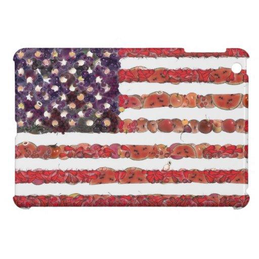 Bandera americana del arte de la comida