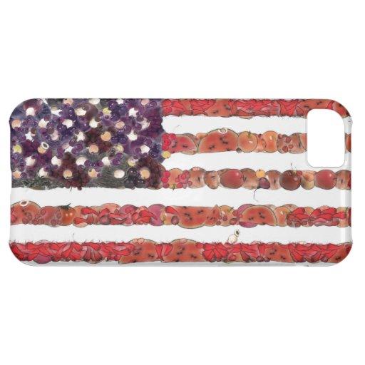 Bandera americana del arte de la comida funda para iPhone 5C
