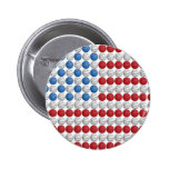 Bandera americana del baloncesto pins