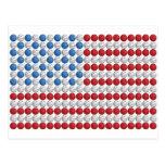 Bandera americana del baloncesto postal