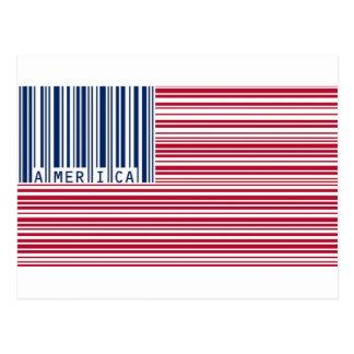 bandera americana del código de barras postales