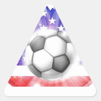 Bandera americana del corazón del fútbol colcomanias trianguladas personalizadas
