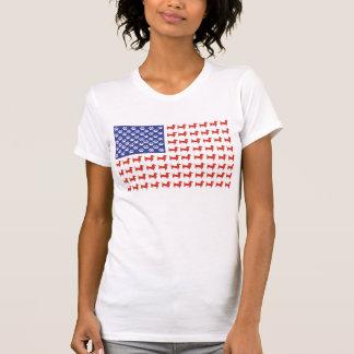 Bandera americana del Dachshund de los E.E.U.U. Tshirts