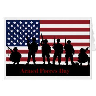 Bandera americana del día de fuerzas armadas de ar felicitación