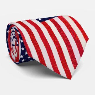 Bandera americana del estilo del arte pop corbatas