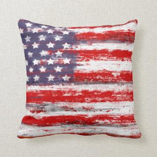 Bandera americana del estilo del vintage cojin