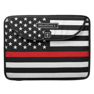 Bandera americana del estilo patriótico del funda macbook pro