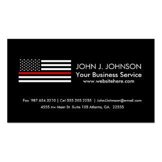 Bandera americana del estilo patriótico del tarjetas de visita