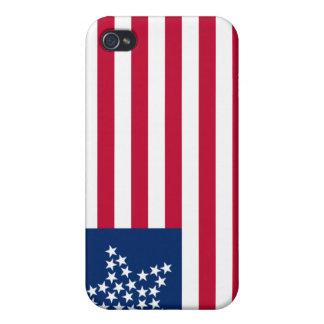 Bandera americana del gran de la estrella de 33 es iPhone 4 funda