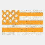 Bandera americana del grunge anaranjado rectangular altavoces