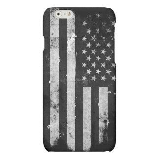 Bandera americana del Grunge blanco y negro
