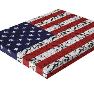 Bandera americana del Grunge de los E.E.U.U. Impresión En Lona