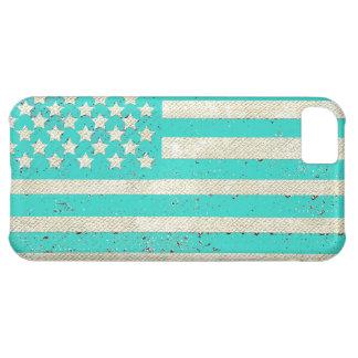 Bandera americana del grunge del trullo funda para iPhone 5C