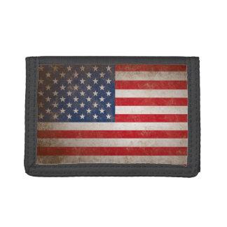 Bandera americana del Grunge del vintage