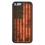 Bandera americana del Grunge del vintage Funda De iPhone 6 Bumper Cerezo
